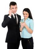 Isolated business couple Stock Photo