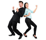Isolated business couple Royalty Free Stock Photos