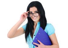 Isolated business girl Stock Photos