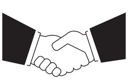 Isolated business handshake Stock Image