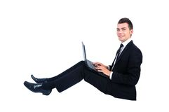 Isolated business man Royalty Free Stock Photography