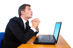 Isolated business man Royalty Free Stock Photo
