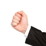 Isolated businessman hand showing fist. Isolated business man hand showing fist Royalty Free Stock Photo