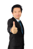 A business man with thumb up posture Royalty Free Stock Images