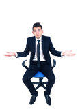 Isolated business man Royalty Free Stock Image