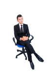Isolated business man Stock Photos