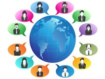 Business people Communication around the world royalty free illustration
