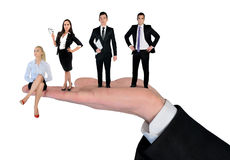 Isolated business team Stock Image