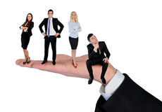 Isolated business team royalty free stock photography