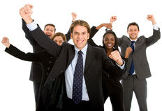 Isolated business team success Royalty Free Stock Photo