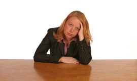 Isolated business woman. Looking frustrated Royalty Free Stock Images