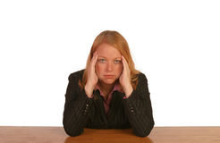 Isolated business woman. Looking frustrated Stock Image