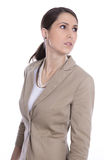 Isolated business woman looking sideways or away Royalty Free Stock Photos