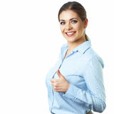 Isolated business woman portrait. Office worker Royalty Free Stock Image