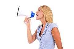 Isolated Business Woman Royalty Free Stock Photography