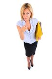 Isolated Business Woman Stock Photo