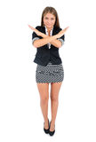 Isolated business woman Stock Photography