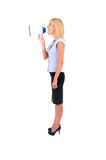 Isolated Business Woman Stock Image