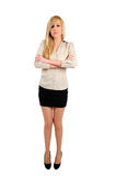 Isolated business woman Stock Photos