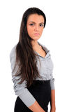 Isolated business woman. Isolated young business woman standing Stock Images