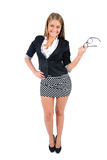 Isolated business woman Royalty Free Stock Images