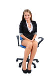 Isolated business woman Royalty Free Stock Photos