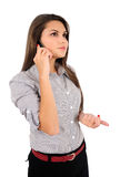 Isolated business woman Royalty Free Stock Image