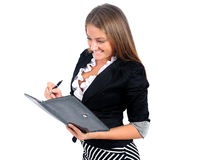 Isolated business woman Stock Images