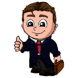 Isolated businessman illustration. Isolated illustration of a young businessman Stock Images