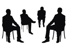 Isolated businessmen Royalty Free Stock Photos