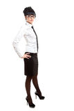 Isolated businesswoman royalty free stock images