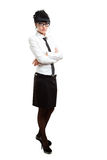 Isolated businesswoman portrait stock images