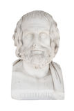 Isolated bust of Euripides, died in 406 before Chr.. Sculpture i Royalty Free Stock Photo