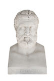 Isolated bust of Metrodorus of Lamsacus (the younger) - greek ph stock image