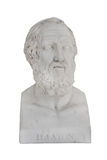 Isolated bust of Platon (died 348 before Christ). Stock Photo