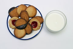 Isolated butter cookies Stock Images
