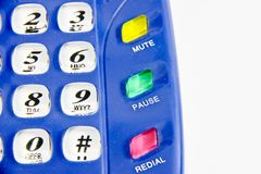 Isolated button of telephone Stock Images