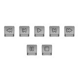 Isolated buttons for multimedia. Stock Images