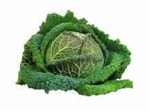 Isolated Cabbage Royalty Free Stock Photos