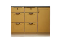 Isolated cabinet drawer Stock Image
