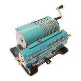 Isolated calculating machine Stock Images
