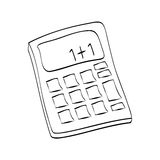 Isolated Calculator draw Royalty Free Stock Photos