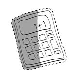 Isolated Calculator draw Royalty Free Stock Photo