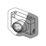Isolated camera device design royalty free illustration