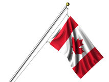 Isolated Canadian Flag Royalty Free Stock Photography