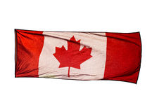 Isolated Canadian Flag in wind on white background Royalty Free Stock Photography