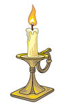 Isolated candle in vector Stock Photography