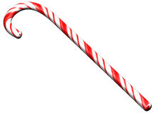 Isolated candy cane Stock Photos