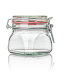 Isolated canning jar Royalty Free Stock Images