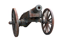 Isolated Cannon Stock Photography